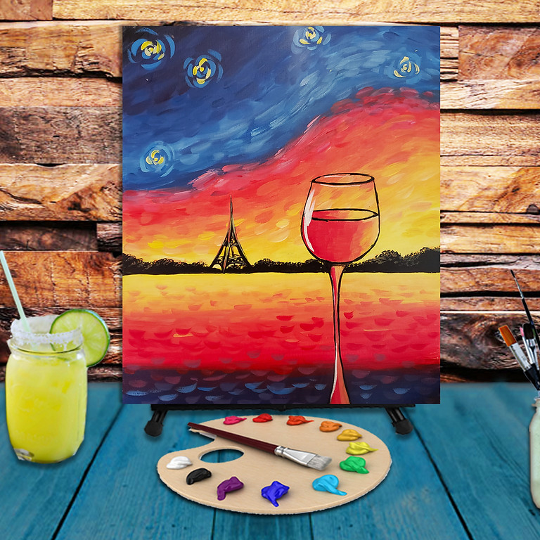 Sunset in Paris -  Step by Step Painting Class