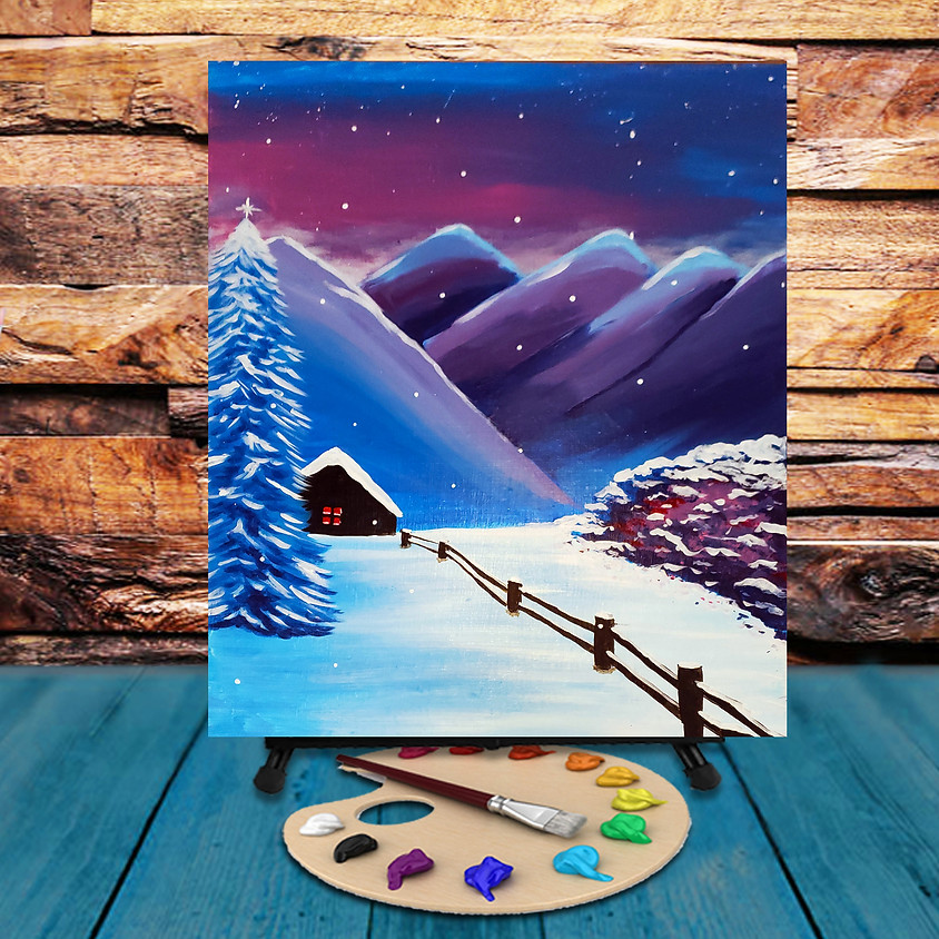 Mountain Cabin - Virtual Step by Step Painting Class