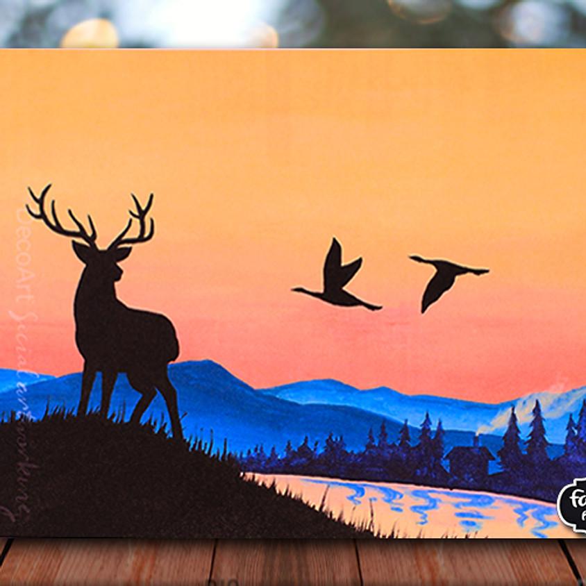 Mountain Morning - Virtual Painting Class