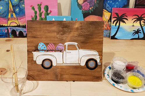 Easter Truck Wood Sign Experience
