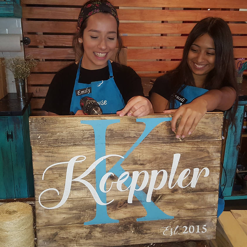 Heather Meier - Private Party - Wood Sign Making Class