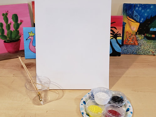 """11""""x""""14 Canvas Painting Kit"""