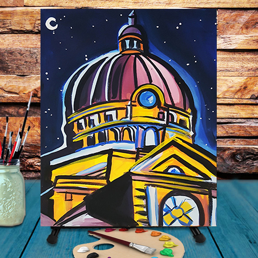 Lincoln Basilica - Virtual Step by Step Painting Class