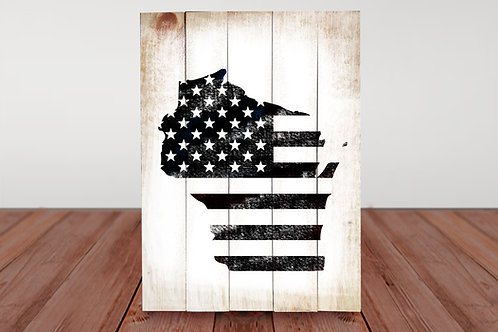 WI USA Flag - Woodsign Making Experience