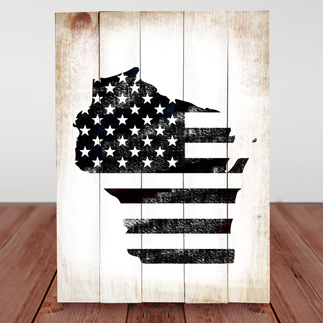 WI USA flag