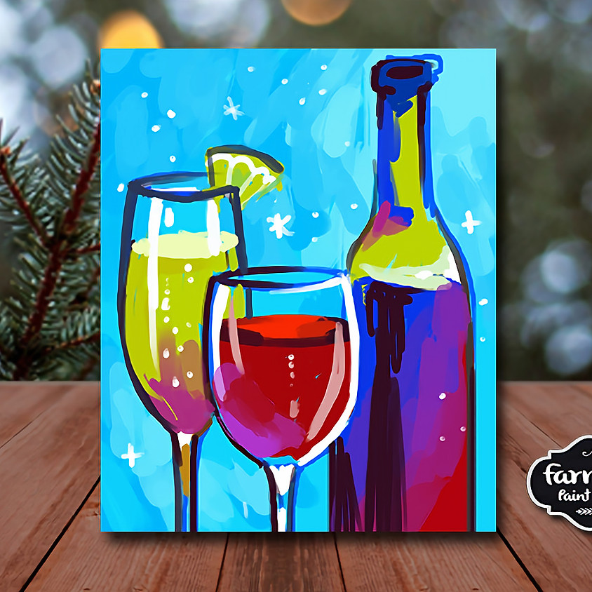 Wine Lover - Virtual Painting Class