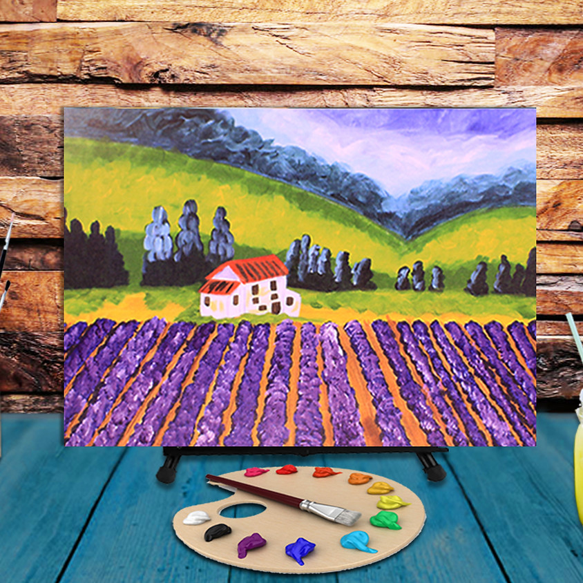 Lavender Field - Virtual Step by Step Painting Class