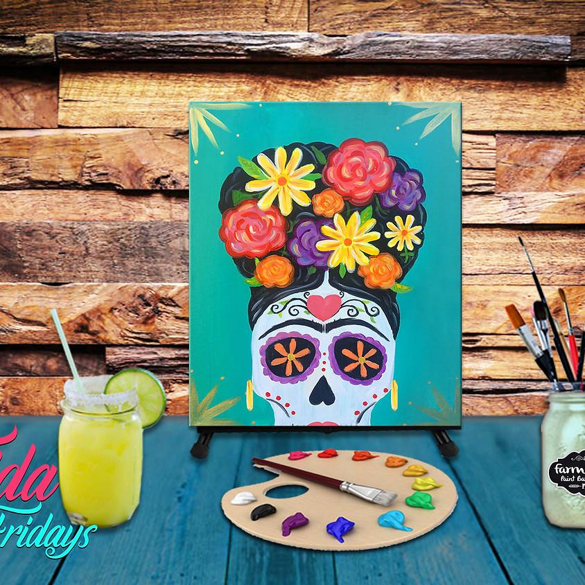 Frida Sugar Skull - Virtual Painting Class