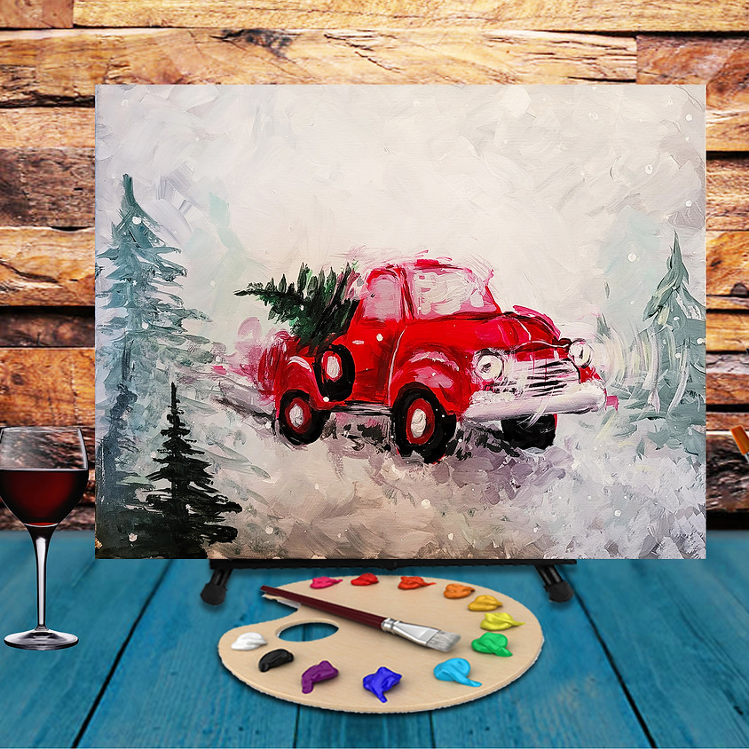 Snowy Truck -  Step by Step Painting Class