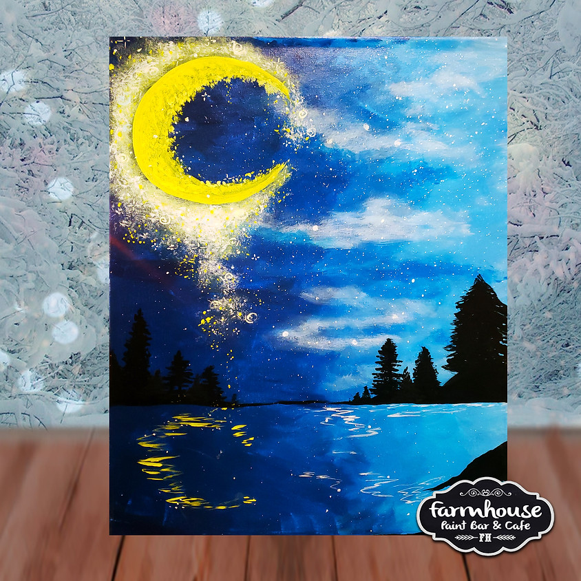 Fairy Dust Moon - Virtual Step by Step Painting Class