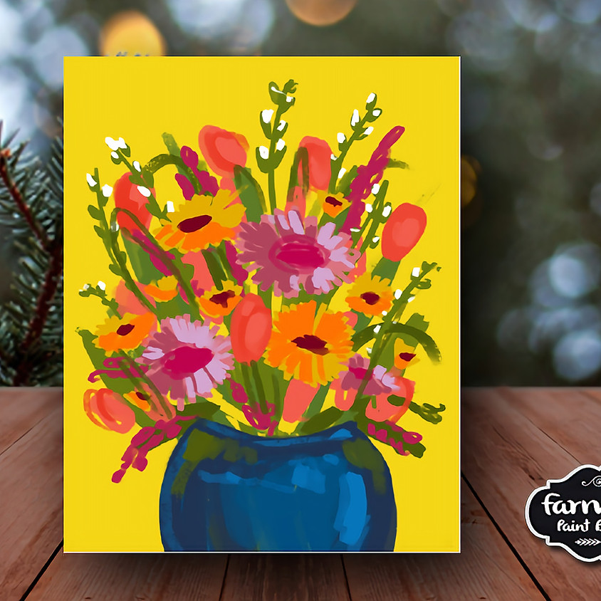Bright Flowers - Virtual Painting Class