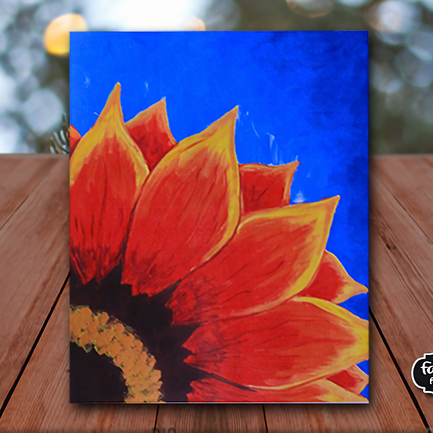 Red Sunflower - Virtual Painting Class