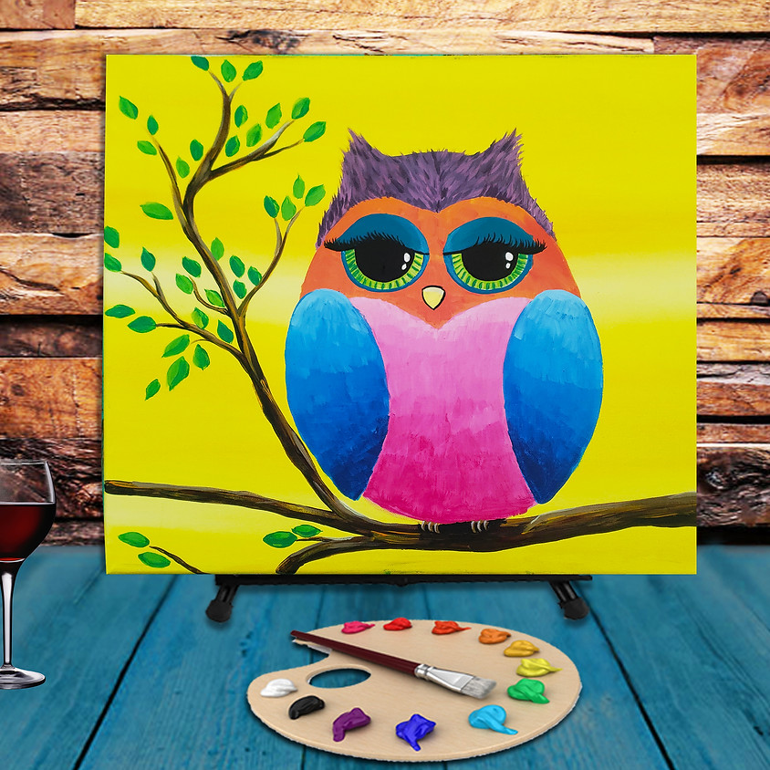 Colorful Owl - Step by Step Plein Air Painting Class