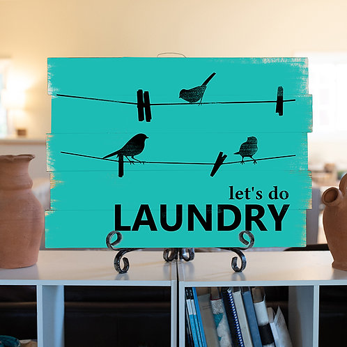 Let's do Laundry - Woodsign Making Experience