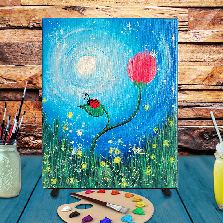Sparkly Night -  Step by Step Painting Class