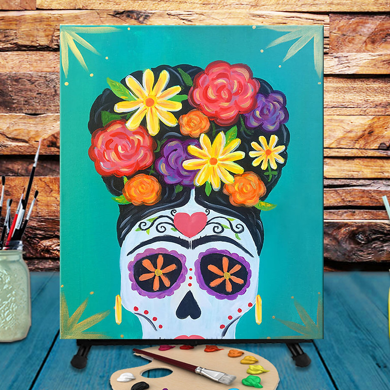 Frida Skull -  Step by Step Painting Class