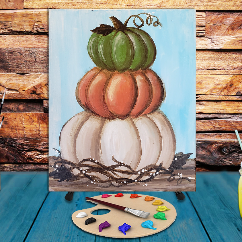 Stacked Pumpkins -  Step by Step Painting Class