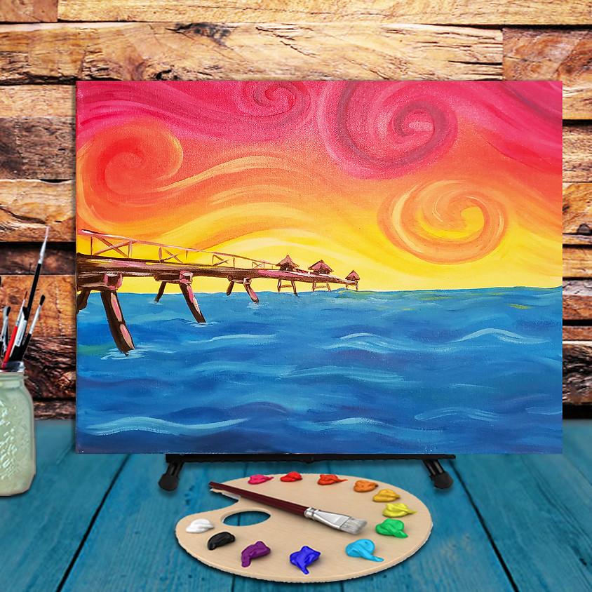 Ocean Bridge - Virtual Step by Step Painting Class