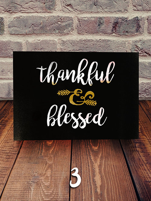 Thankful and Blessed Wood Sign Experience