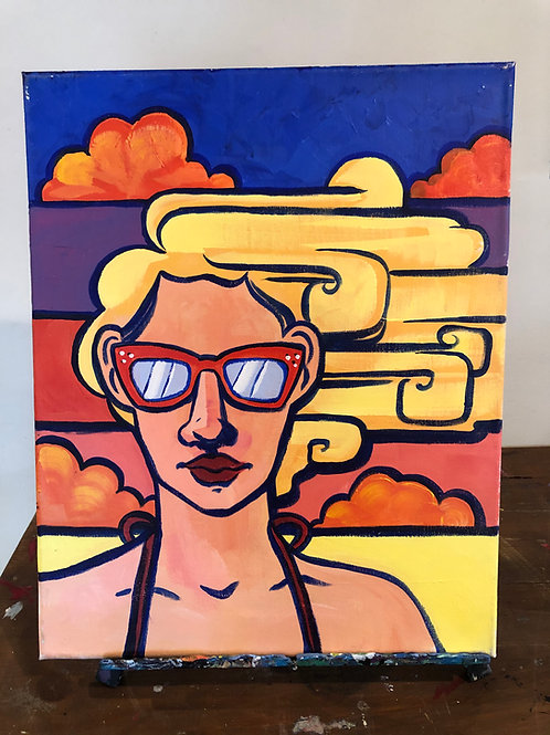 Beach Day (16x20 canvas)