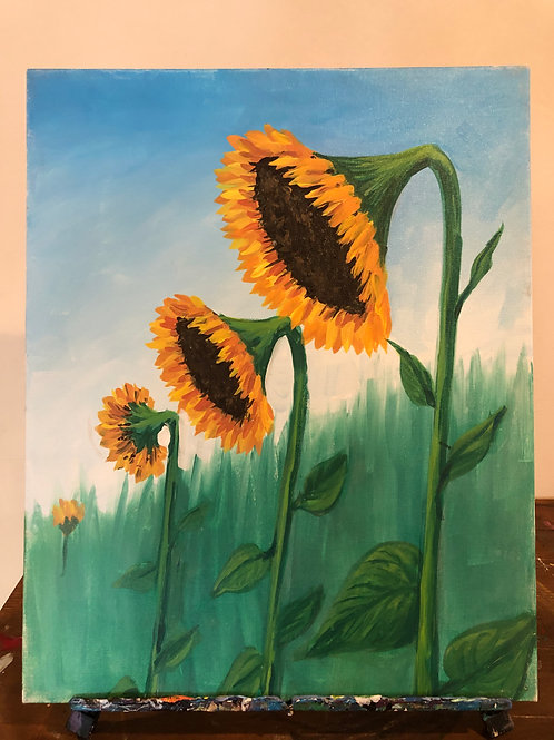 Sunflowers (16x20 canvas)