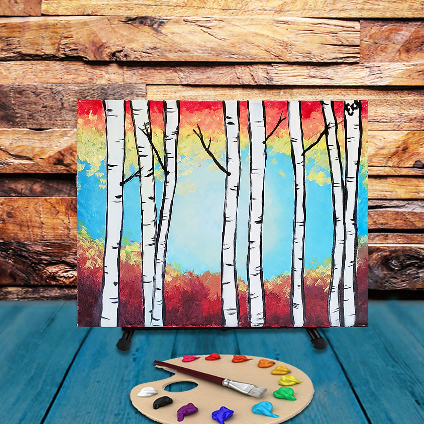 Birch Trees - Virtual Step by Step Painting Class