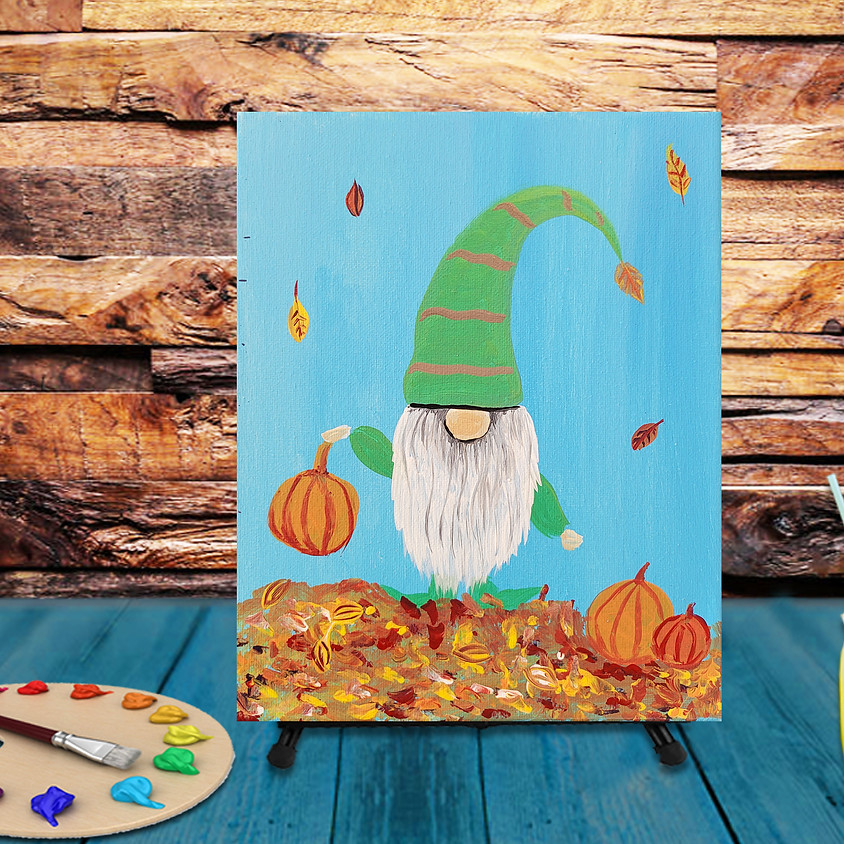 Fall Gnome -  Step by Step Painting Class