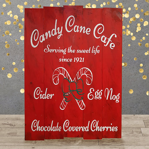 Candy Cane Cafe - Woodsign Making Experience