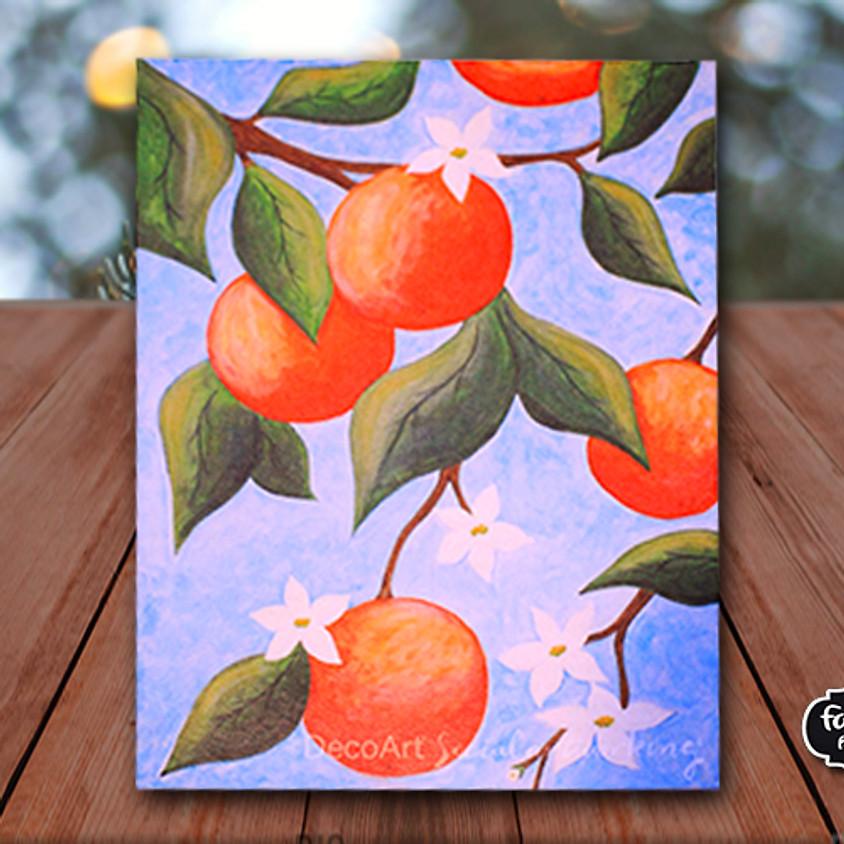 Orange Tree - Virtual Painting Class