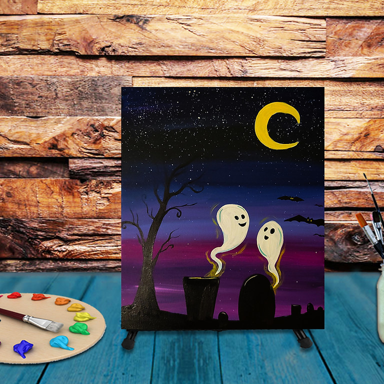 Friendly Ghosts - Kids Halloween Painting Party