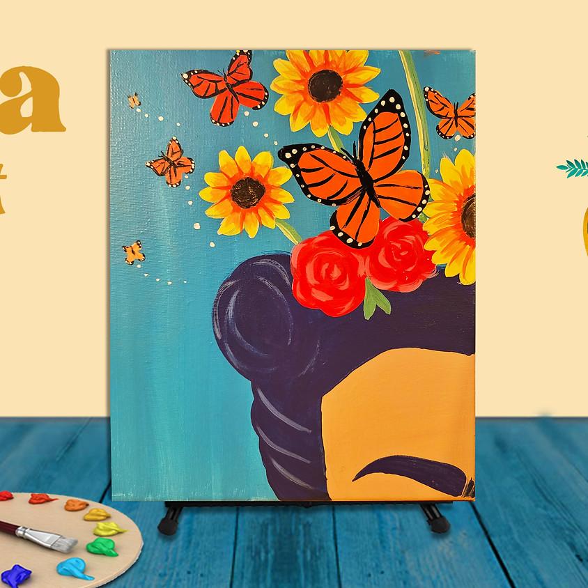 "Frida Fest Painting Class ""Crown of Butterflies"""
