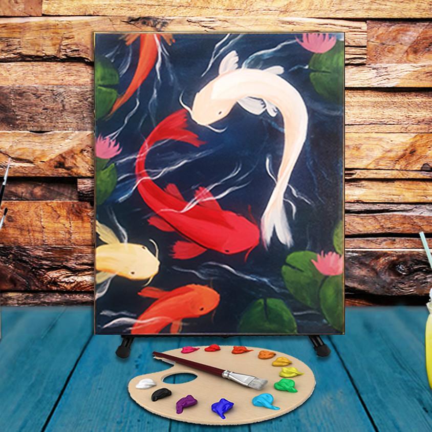 Koi Fish - Virtual Step by Step Painting Class