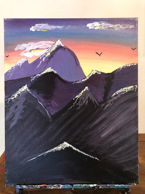 Mountain Range (16x20 canvas)