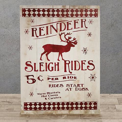 Reindeern Sleigh Rides - Woodsign Making Experience