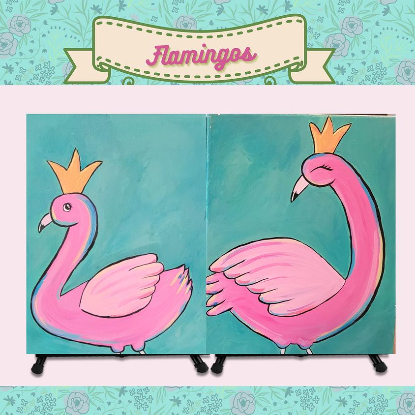 Mommy & Me - Flamingos