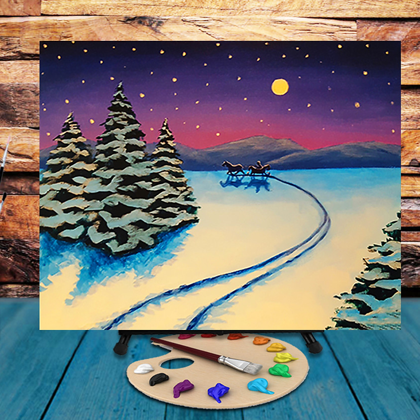 Winter Sleight Ride - Virtual Step by Step Painting Class
