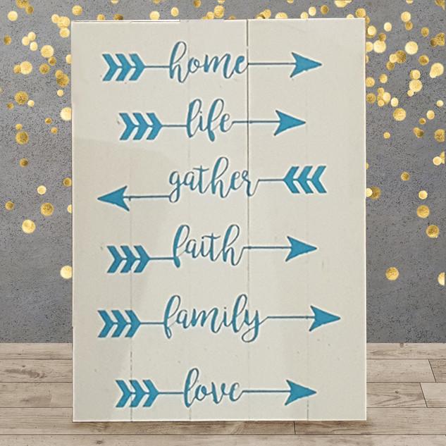 Home Life Gather Faith Family Love