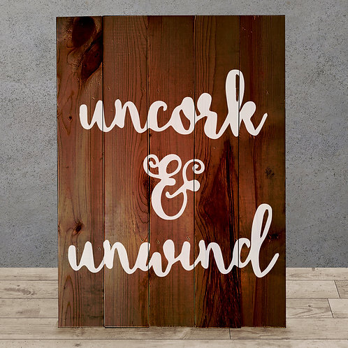 Uncork & Unwind - Woodsign Making Experience