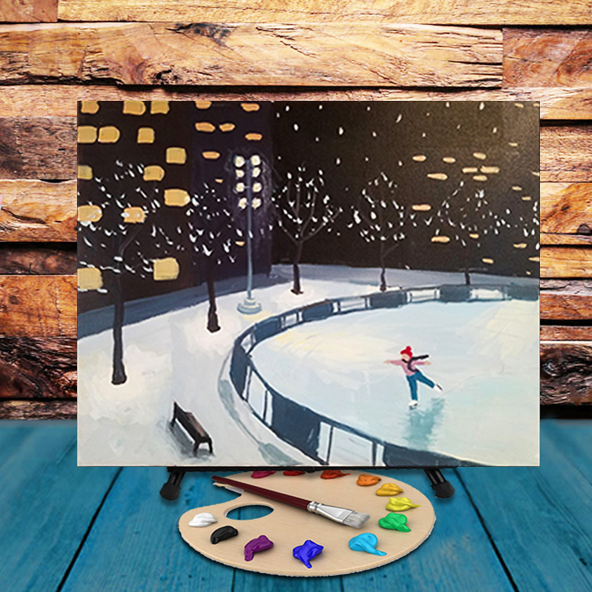 Downtown Skating - Virtual Step by Step Painting Class