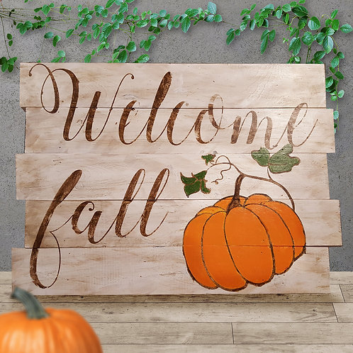 Welcome Fall - Woodsign Making Experience