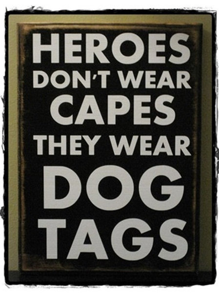 Hero's Wear Dog Tags - Wood Sign Making Experience