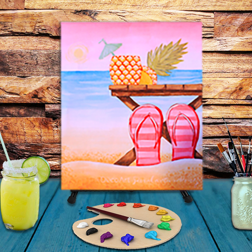 Day at The Beach - Virtual Step by Step Painting Class