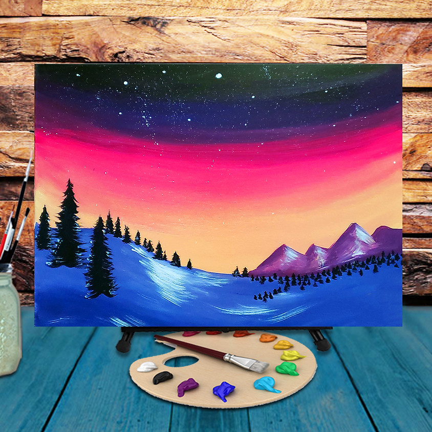 To The Mountains - Virtual Step by Step Painting Class