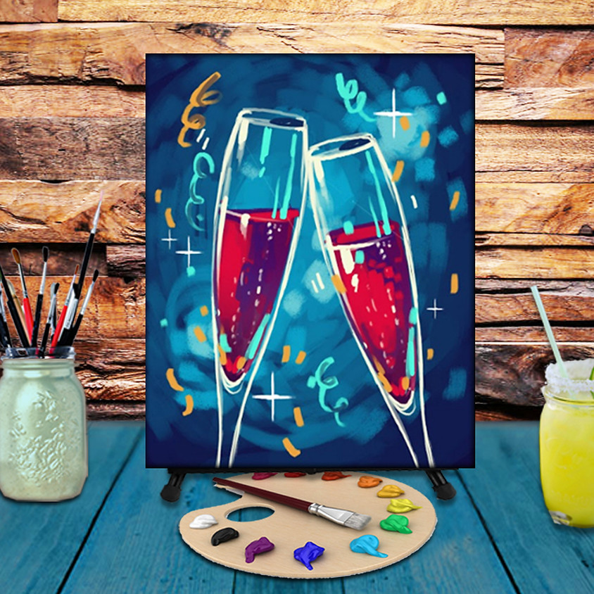 Cheers - Virtual Step by Step Painting Class