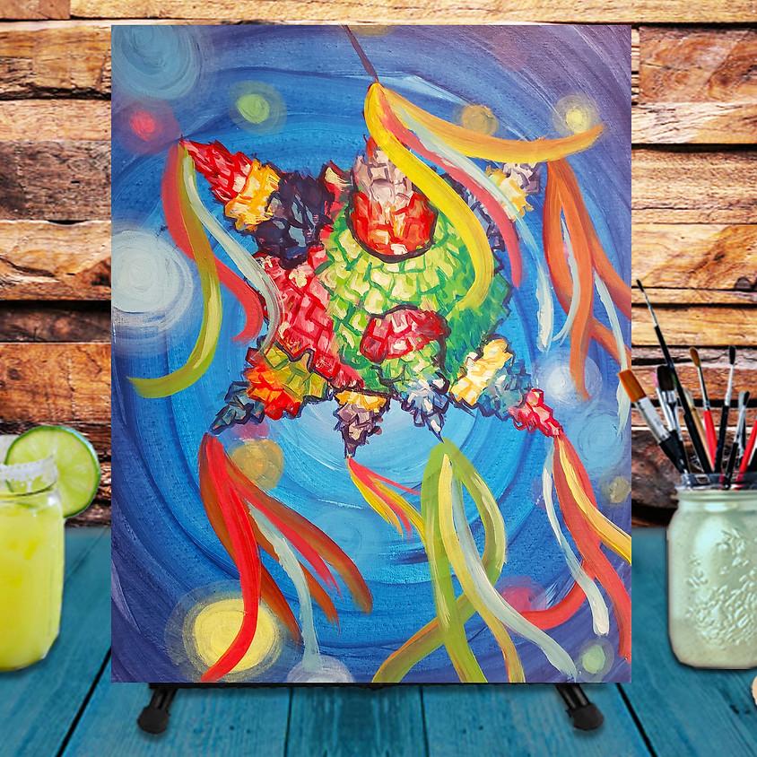 Cinco de Mayo Pinata - Virtual Step by Step Painting Class