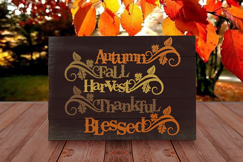 Autumn Thankful and Blessed - Woodsign Making Experience