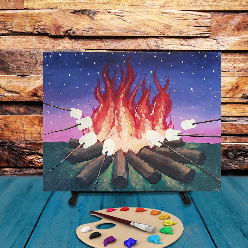 Campfire Fun - Virtual Step by Step Painting Class