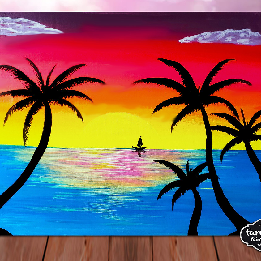 Beach Sunset- Step by Step Plein Air Painting Class
