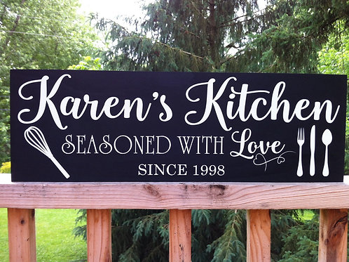 Custom Kitchen - Woodsign Making Experience