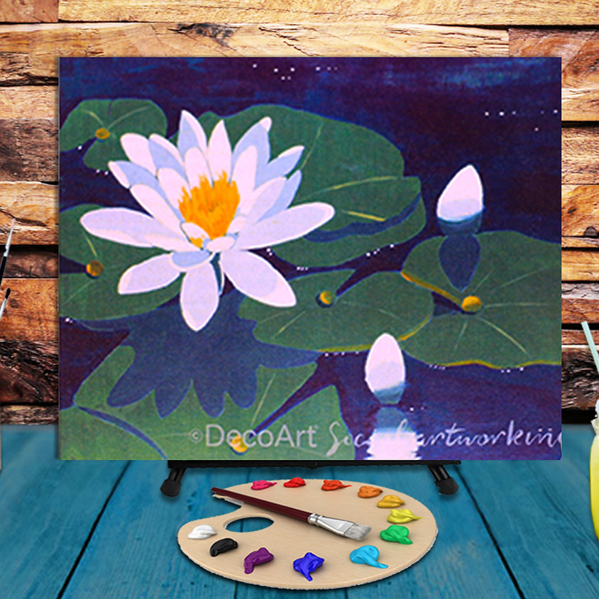 Water Lily - Virtual Step by Step Painting Class